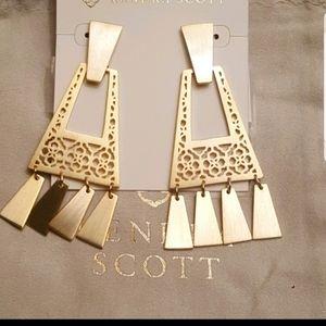 Gold, Kendra Scott, Kase, Fringe Earrings
